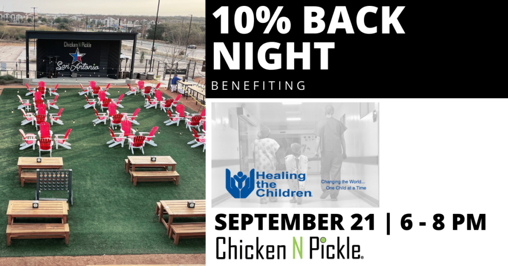 10% Giveback Night benefiting the Healing the Children