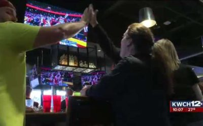 Chiefs fans celebrate playoff win over Texans at Chicken and Pickle